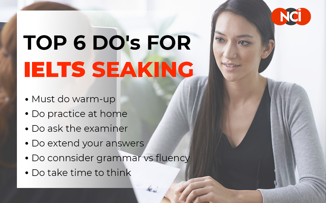 Top 6 Do's for IELTS Speaking